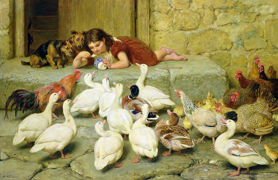 bird painting by briton riviere