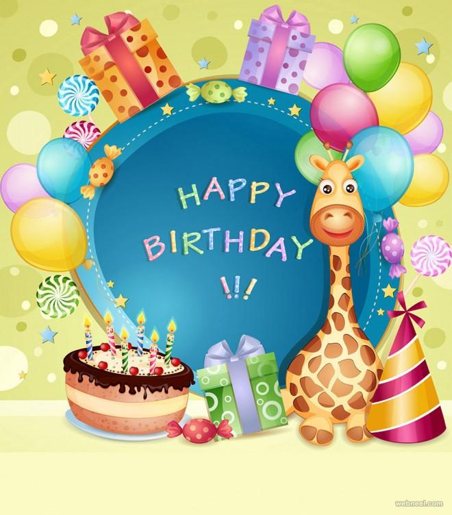 birthday greetings card design kids