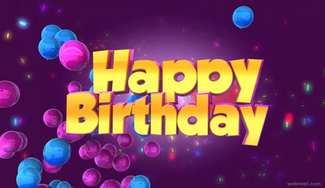 happy birthday greetings card