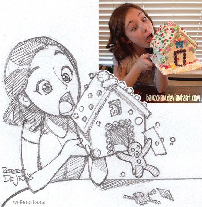 photo to cartoon girl