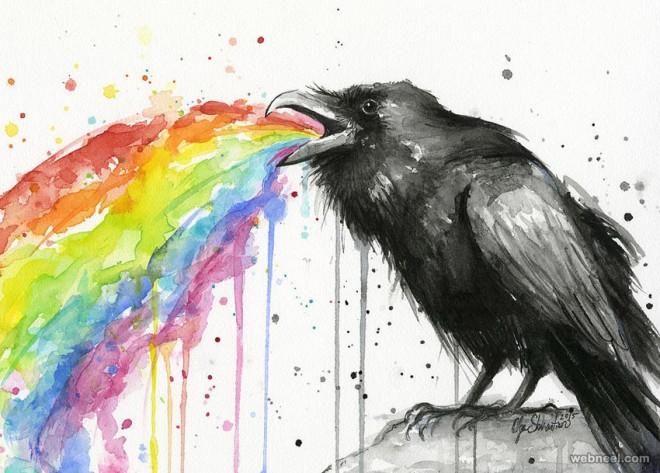 bird art by olga shvartsur