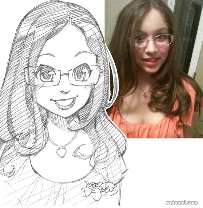 girl photo to cartoon