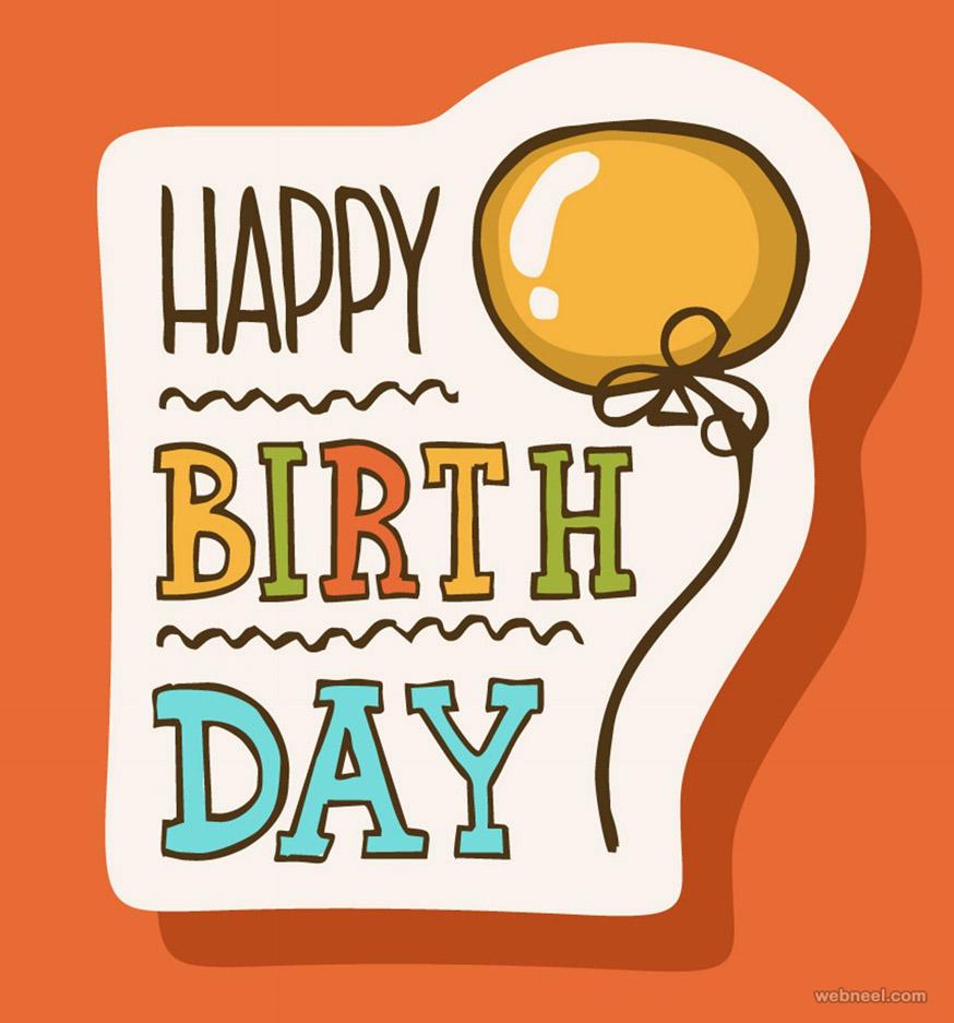 simple birthday greetings card design