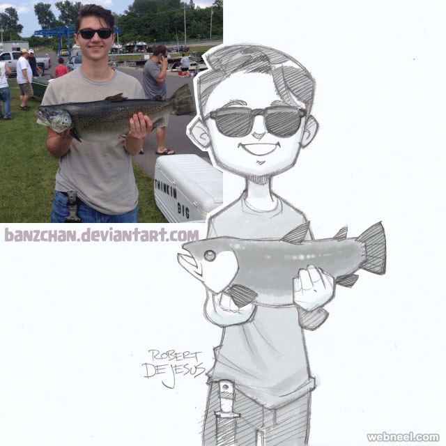 photo to cartoon boy