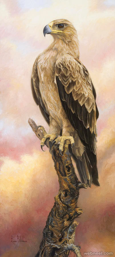 bird painting by eagle lucie bilodeau