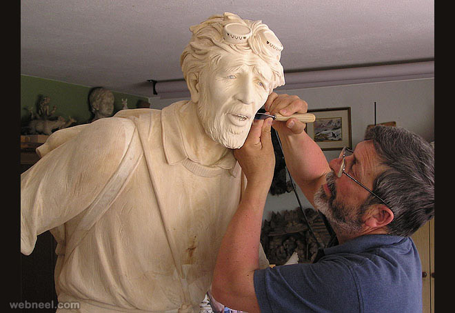 wood sculpture by giuseppe rumerio