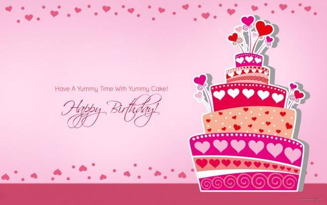 birthday greetings card design cake