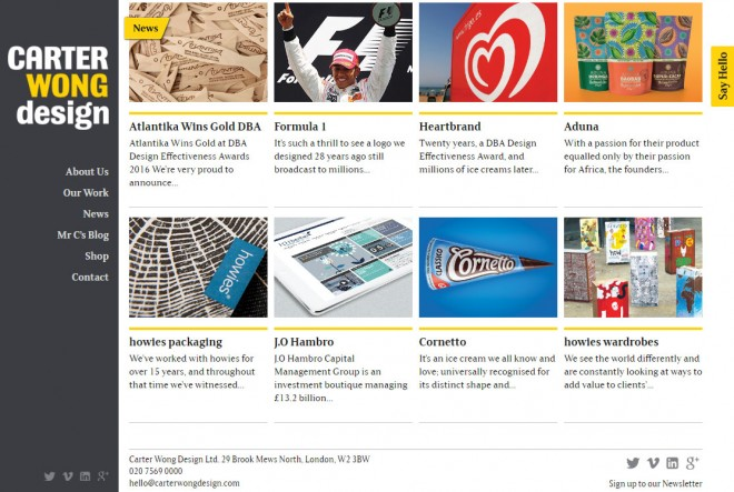 carter wong design graphic design website