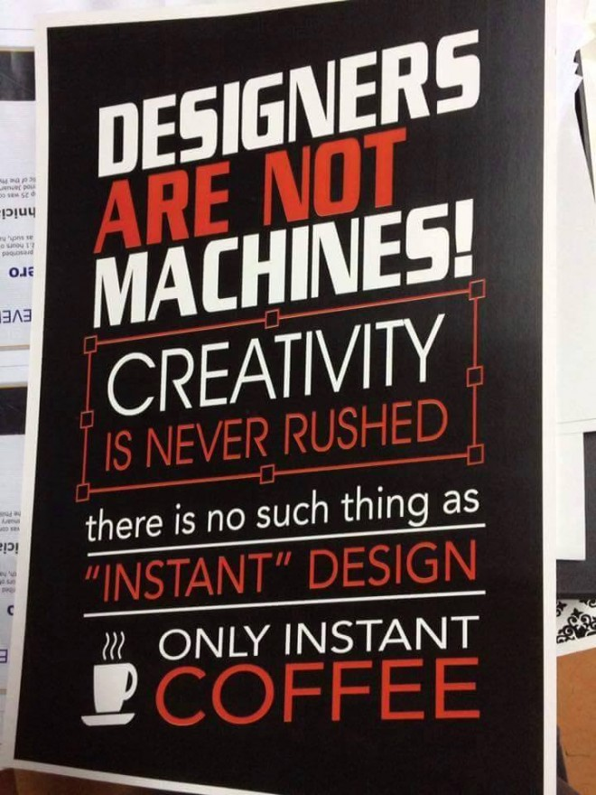 typography poster for designers
