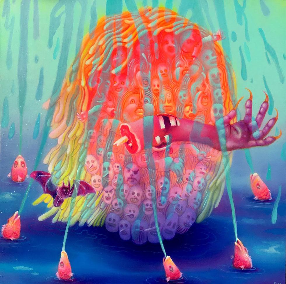 float swirl oil painting