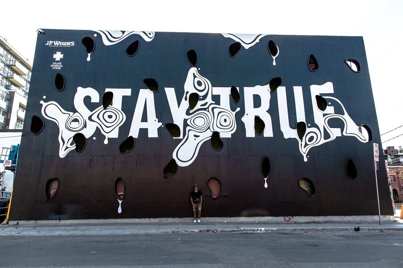 street art idea typography stay true by ben johnston