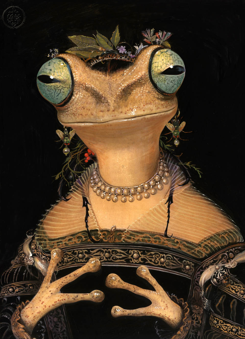 surreal paintings artwork frog by bill mayers