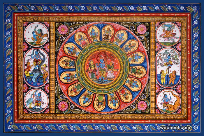 tussar paintings krishna odisha