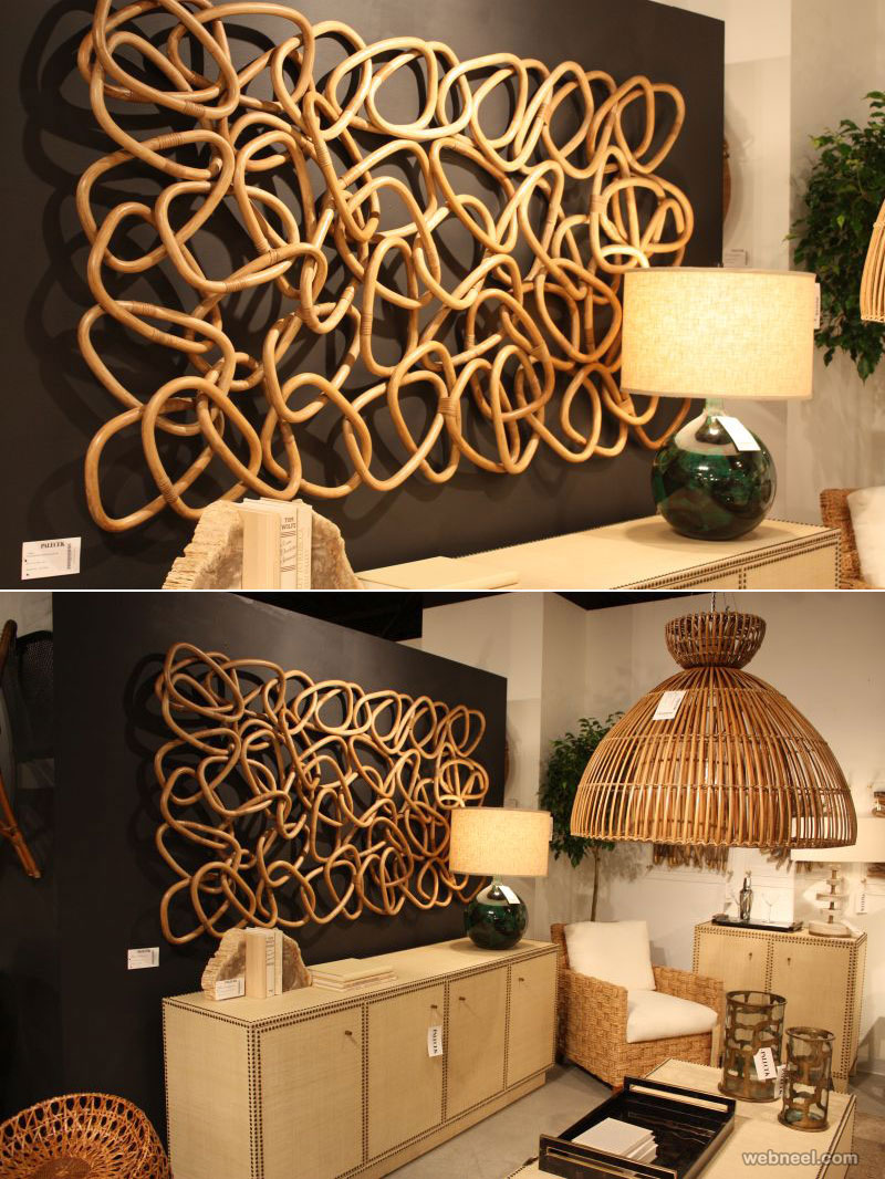 wall art decoration palisades rattan