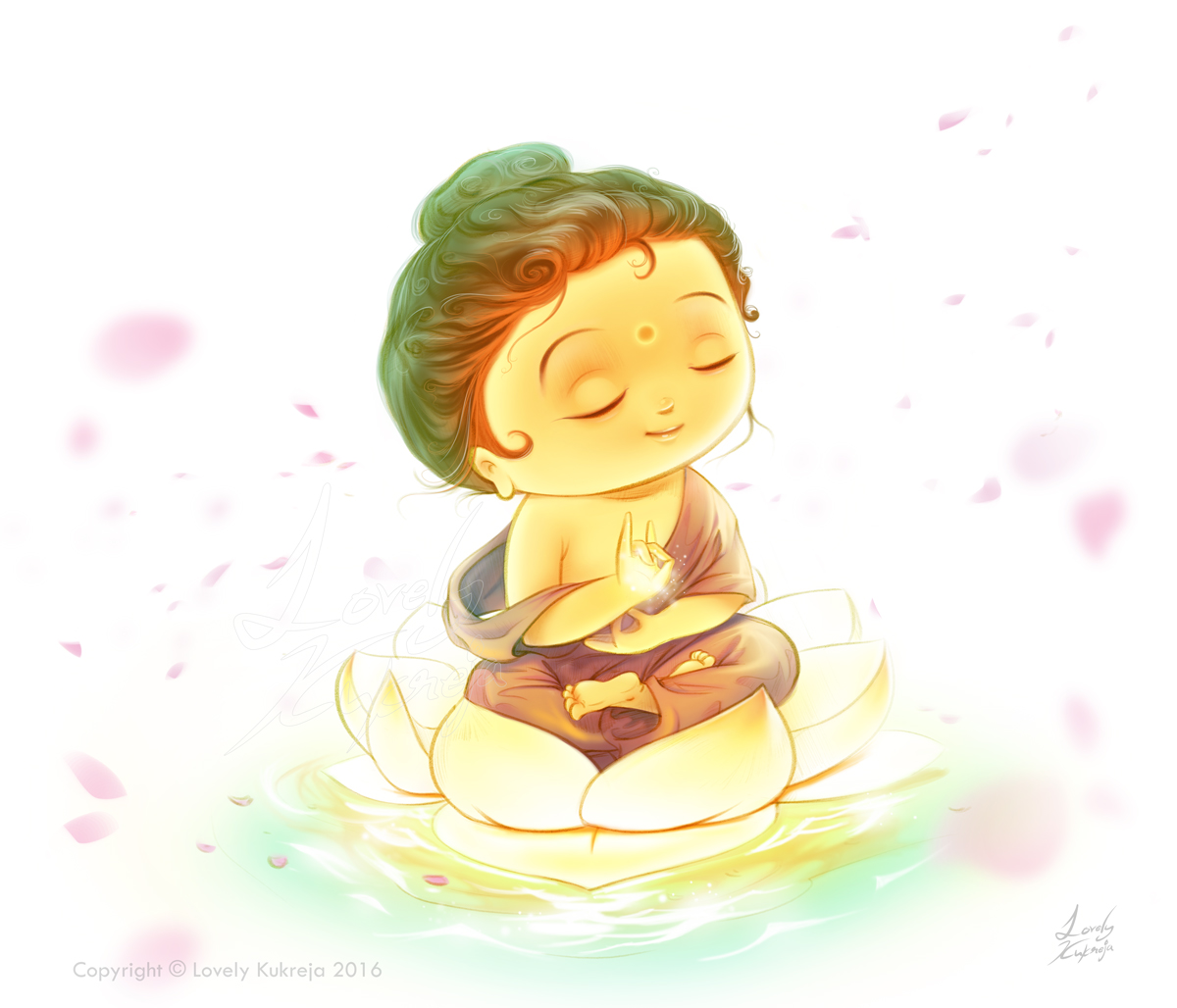 digital art illustration buddha