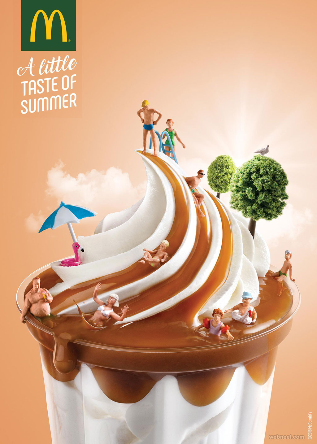 print advertisement mcdonald icecream