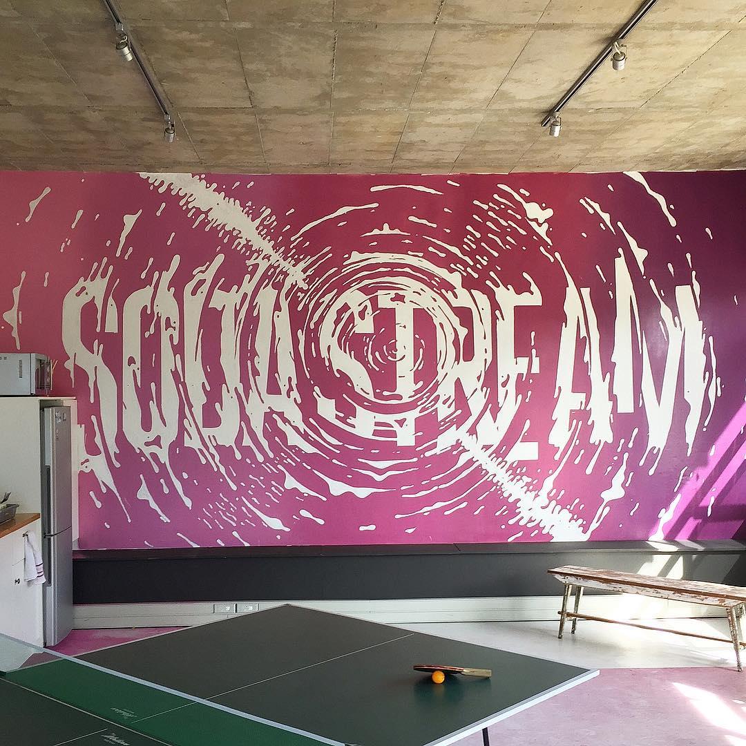 typography wall art idea soda stream by ben johnston