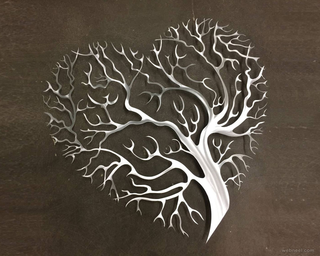 wall art metal tree