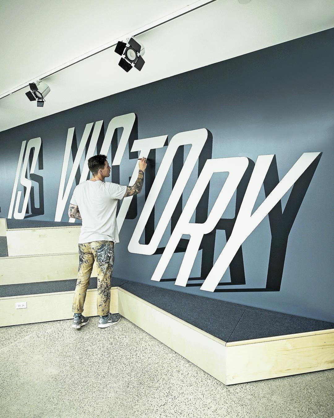street art idea typography victory by ben johnston