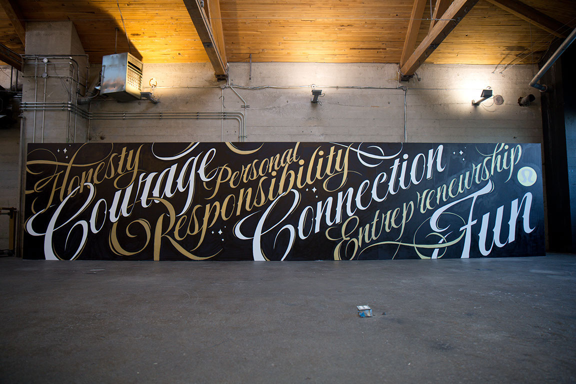 typography wall art idea honesty by ben johnston