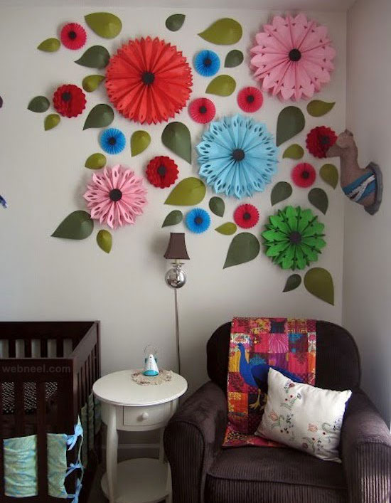 wall art idea paper sculptures