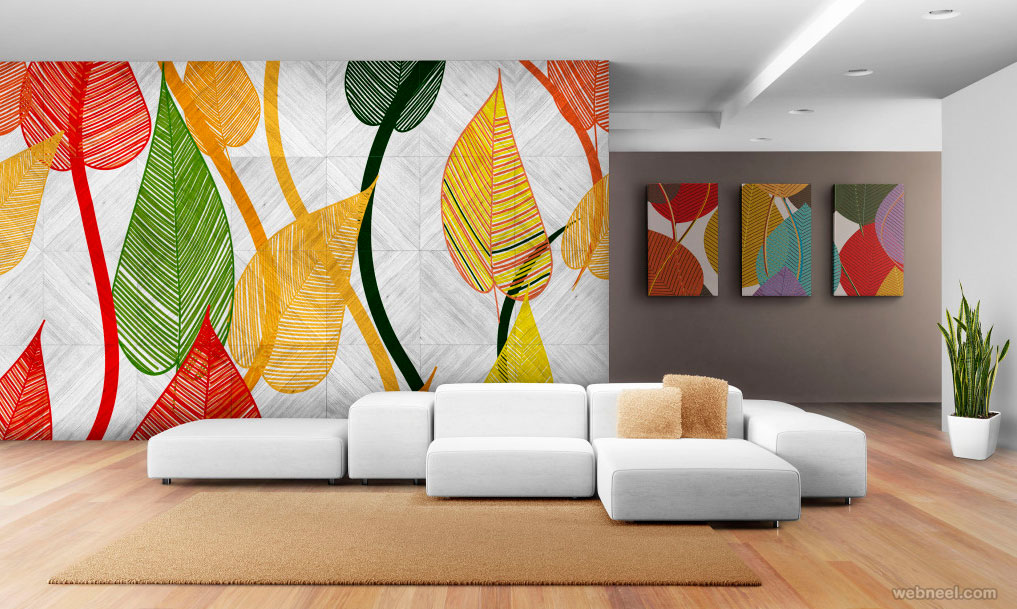 simple wall art idea colorful