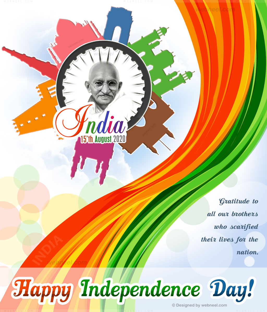 40 Beautiful Indian Independence Day Wallpapers and Greeting