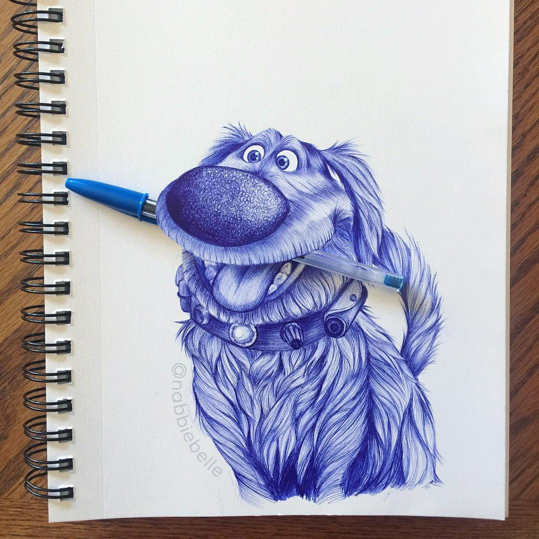 3d drawing dog by annabelle marie