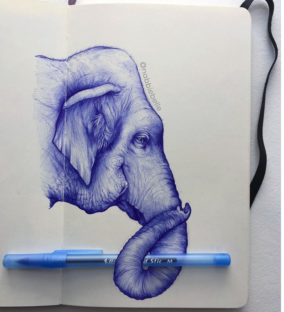 3d drawing elephant by annabelle marie