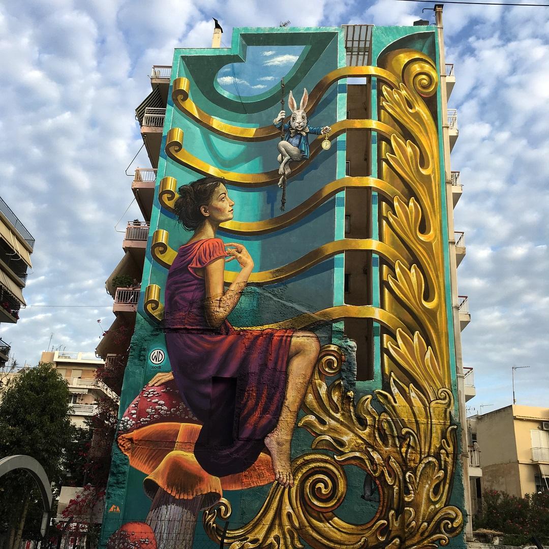 3d street art fantasy by wdstreetart