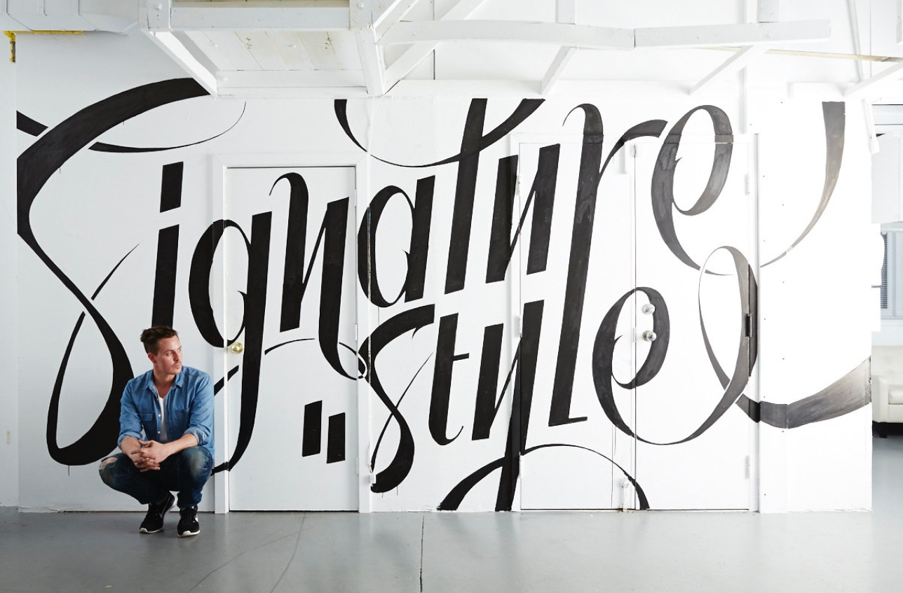 typography wall art idea signature style by ben johnston