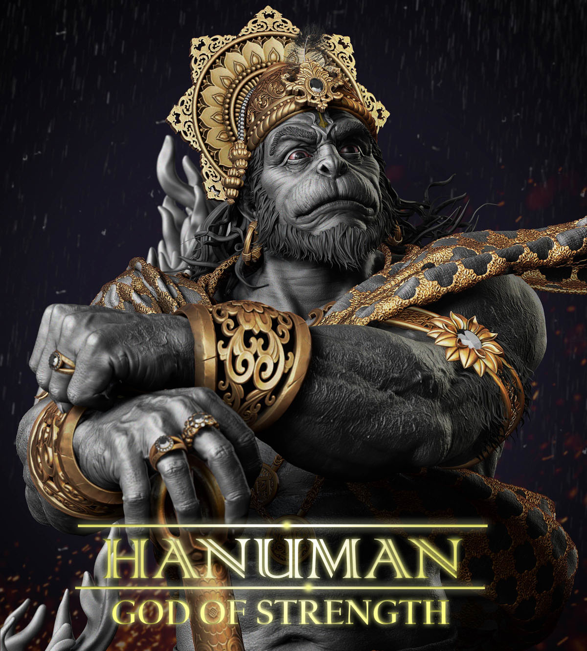 zbrush model god hanuman by gaurav kumar