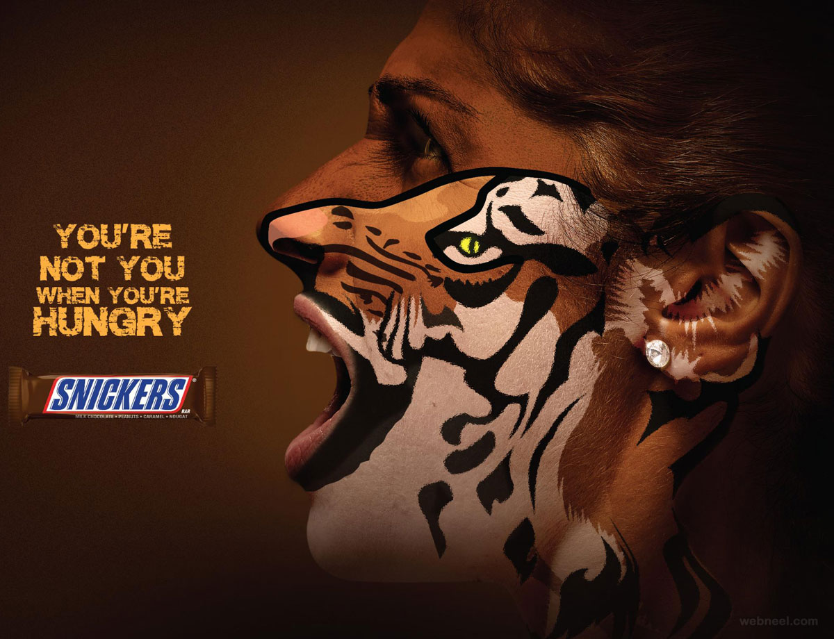 print advertisement snacks face painting