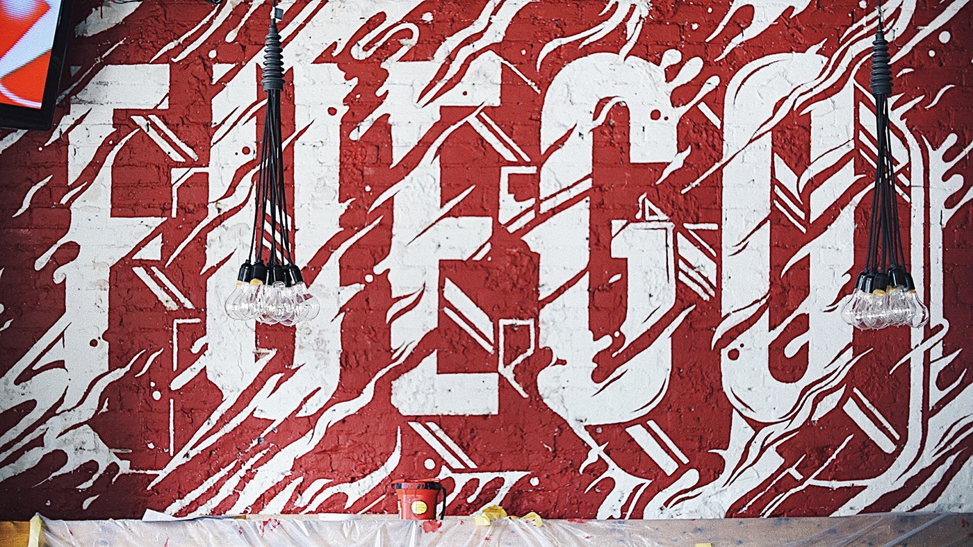street art idea typography fuego by ben johnston