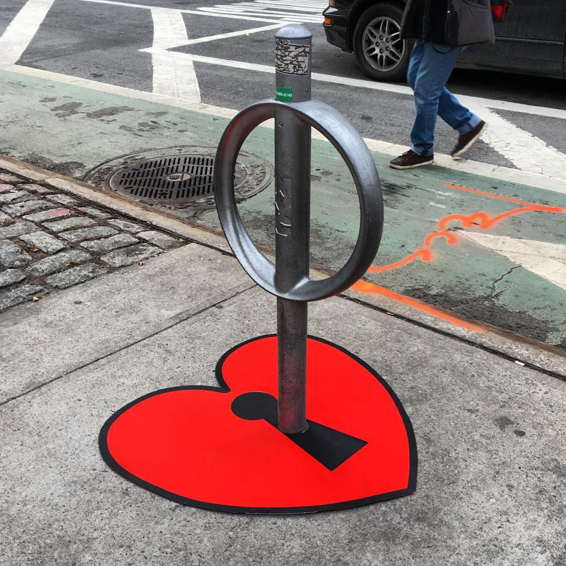 street art works heart