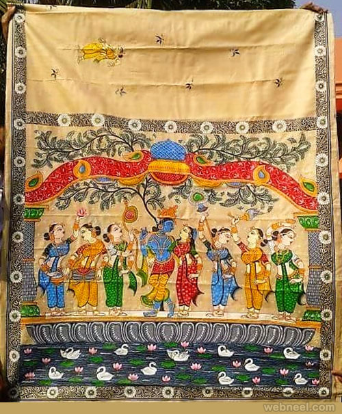 tussar paintings odisha by smritiranjan