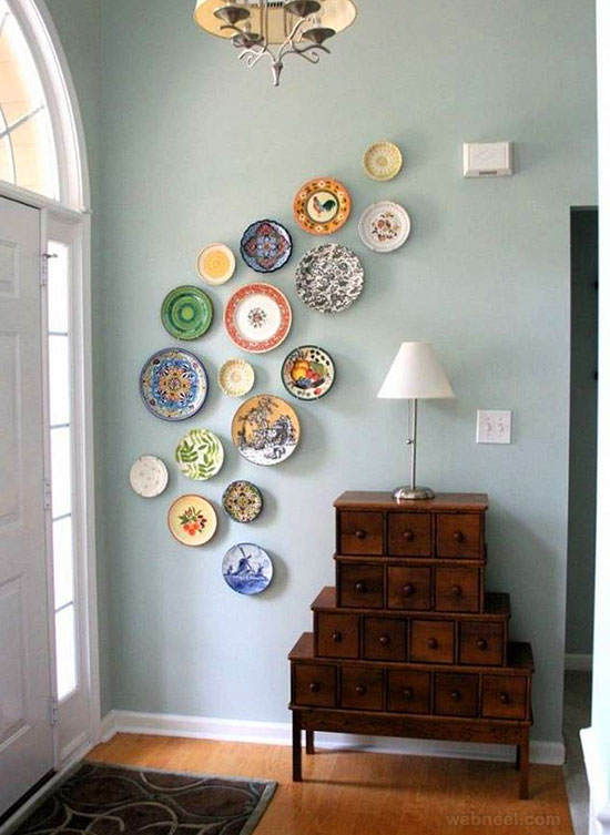 wall art ideas porcelain plates art