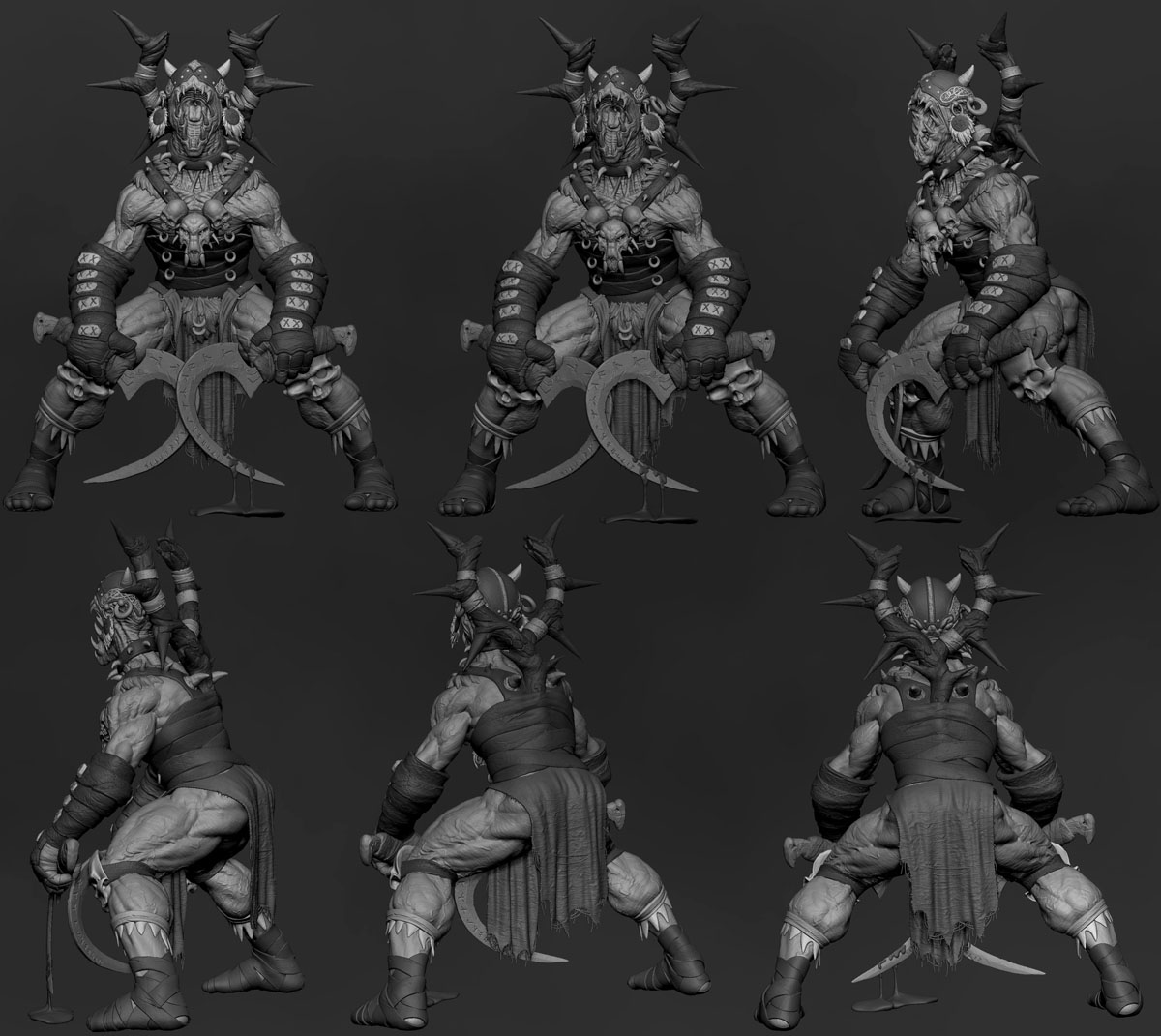 zbrush model evil monster by gaurav kumar