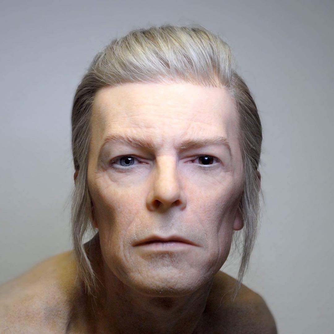 sculpture david bowie by aspencrow