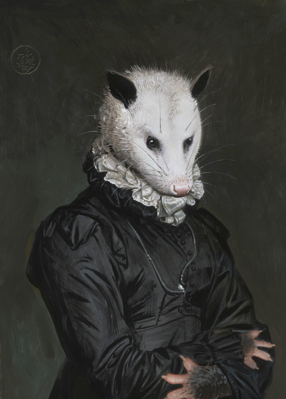 surreal paintings artwork possum by bill mayers