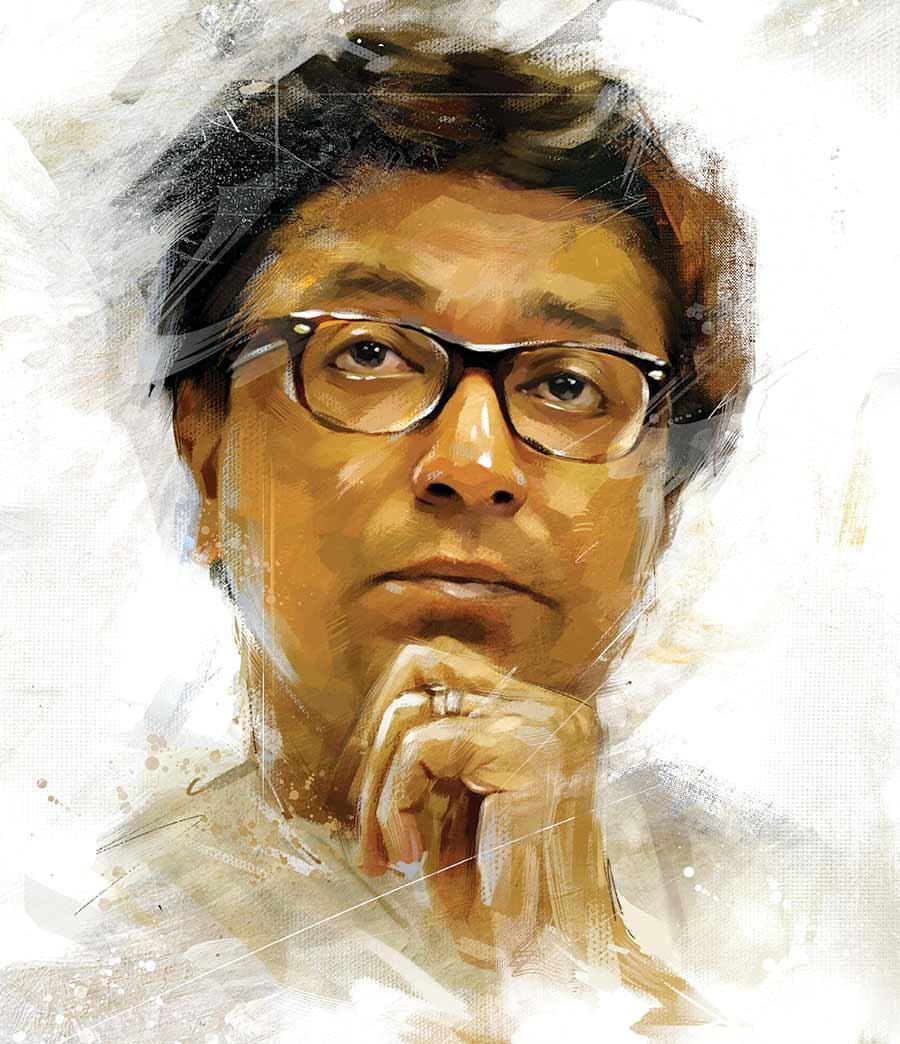 painting artwork raj saheb thackrey by gajanan nirphale