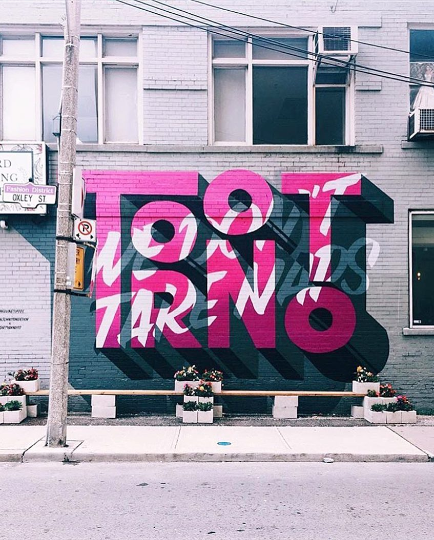 street art idea typography toronto