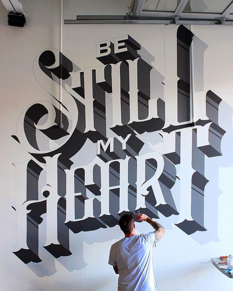 typography art by ben johnston