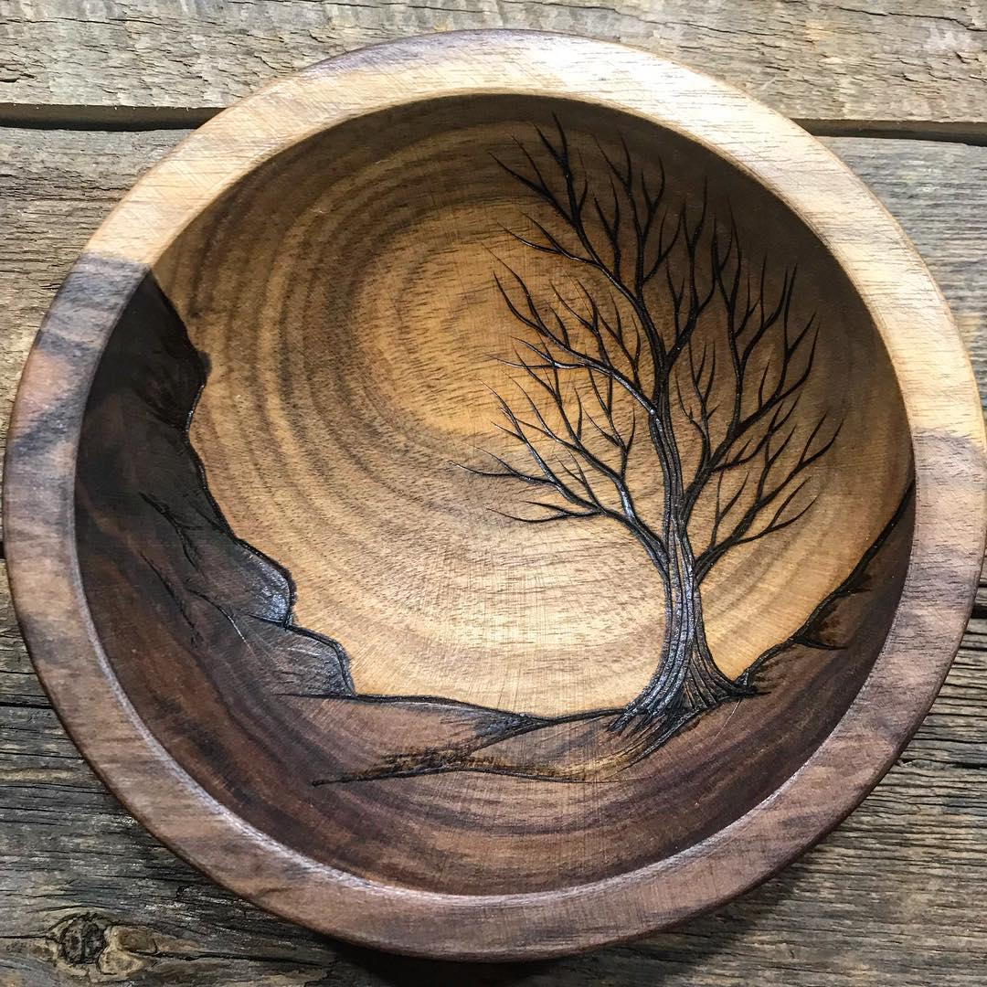 wood art burn by rebecca davis