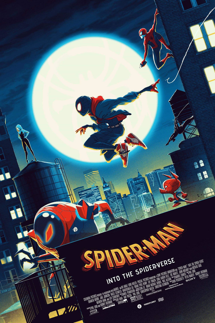 movie poster illustration spiderman