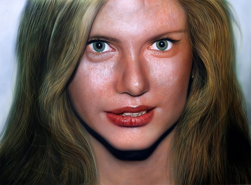 realistic paintings woman by kamalky laureano