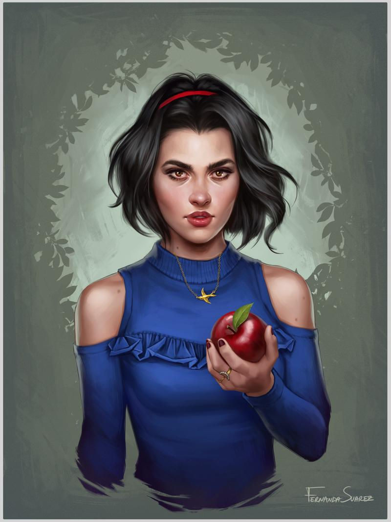 digital art portraits snow white by fdasuarez