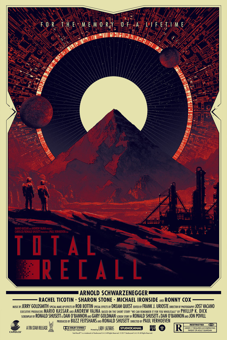 movie poster illustration total recall
