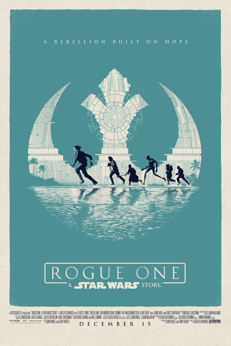 movie poster illustration rogue one by matt ferguson