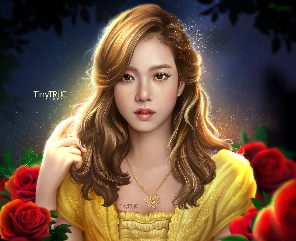 digital painting jisoo belle by tinytruc